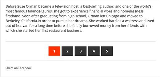 Split long posts into pages